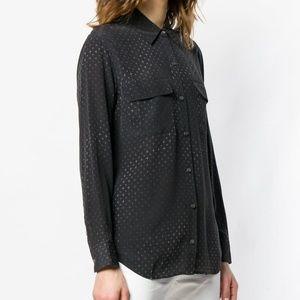 Equipment Black Sparkle print shirt